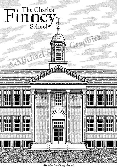 The Charles Finney School art print by Michael Smith