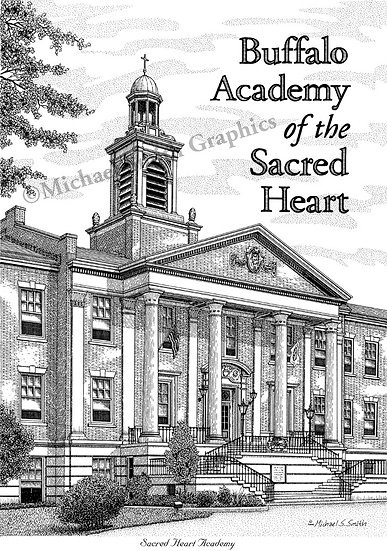 Buffalo Academy of the Sacred Heart art print by Michael Smith