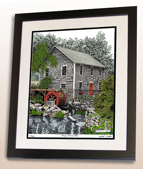 Stony Brook Mill in Cape Cod art print by Michael Smith