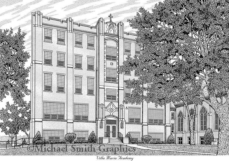 Villa Maria Academy art print by Michael Smith