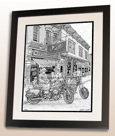 Humorous Motorcycle Grandmommas art print by Michael Smith