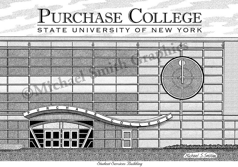 SUNY Purchase College art print by Michael Smith