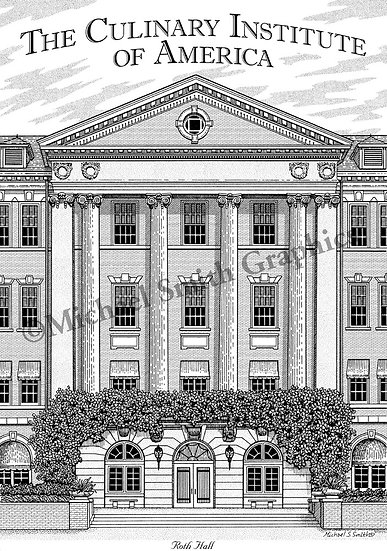 The Culinary Institute of America art print by Michael Smith