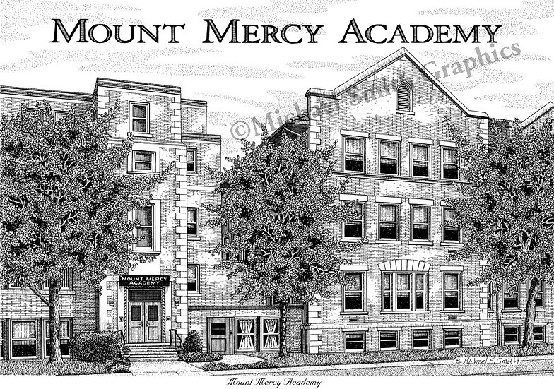 Mount Mercy Academy art print by Michael Smith