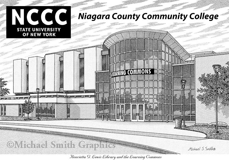 Niagara County Community College art print by Michael Smith