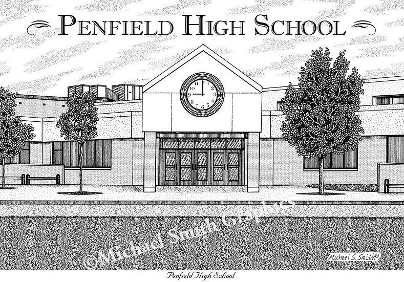 Penfield High School art print by Michael Smith