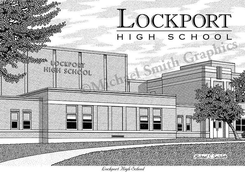Lockport High School art print by Michael Smith
