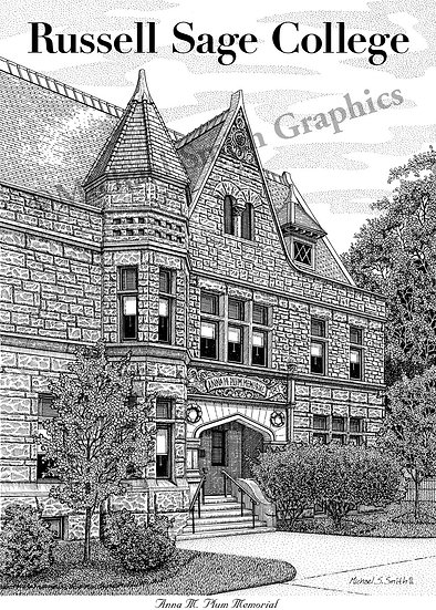Russell Sage College art print by Michael Smith