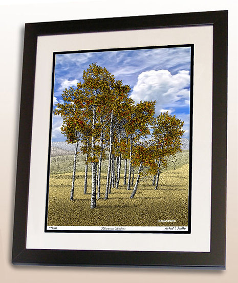 Yellowstone National Park Trees art print by Michael Smith