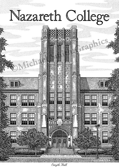 Nazareth College art print by Michael Smith