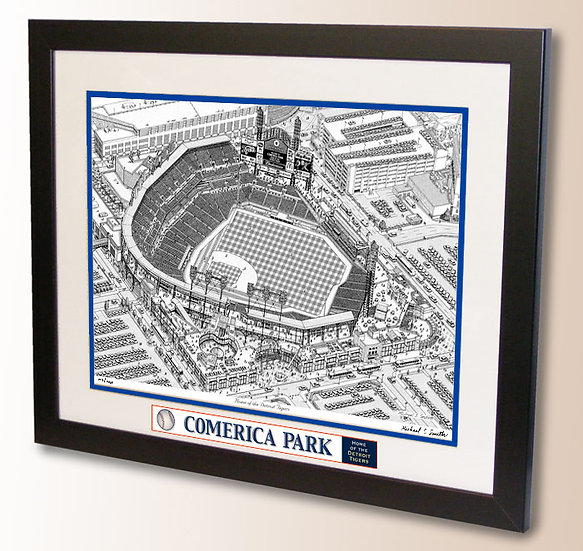 Comerica Park wall art