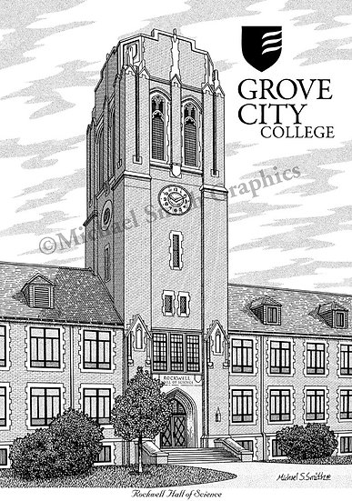Grove City College art print by Michael Smith