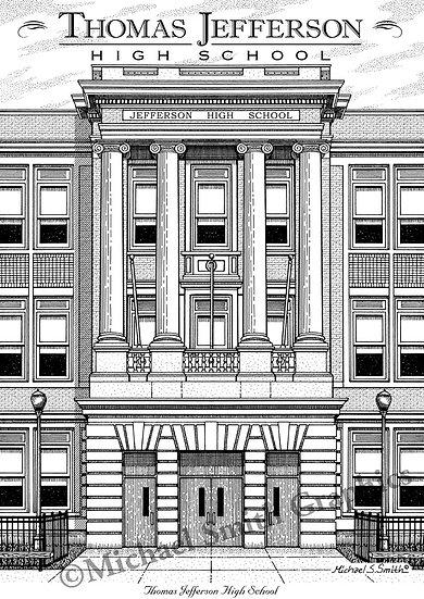 Thomas Jefferson High School art print by Michael Smith