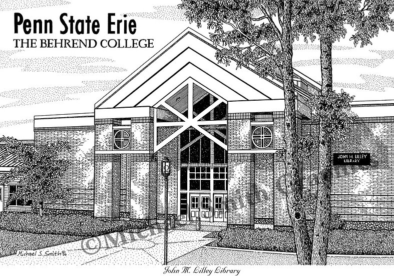 The Behrend College - Penn State Erie art print by Michael Smith