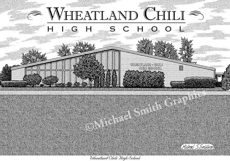 Wheatland Chili High School art print by Michael Smith