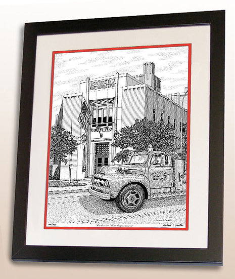 Rochester Fire Department art print by Michael Smith