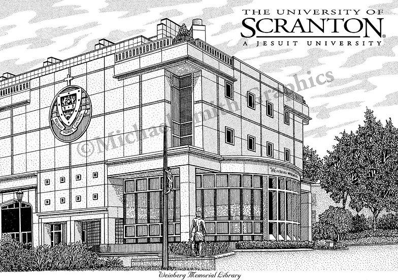University of Scranton art print by Michael Smith