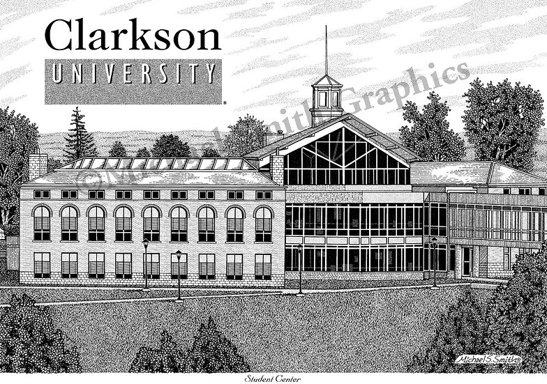 Clarkson University Student Center art print by Michael Smith