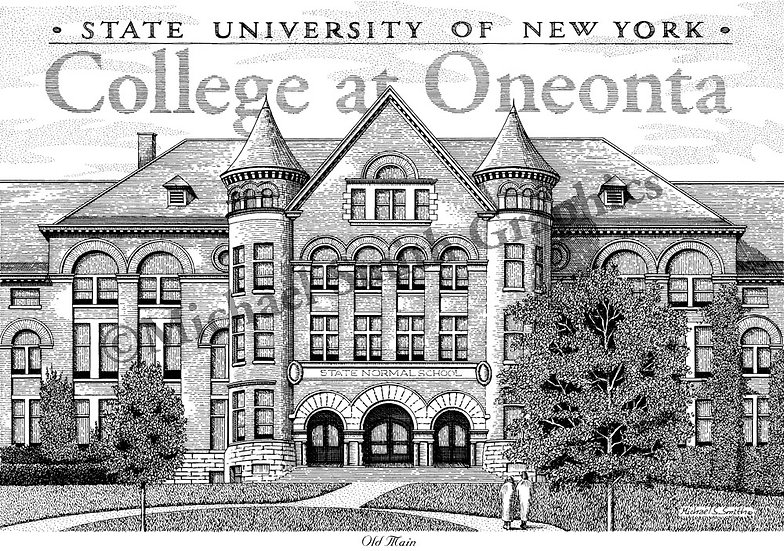 SUNY Oneonta art print by Michael Smith