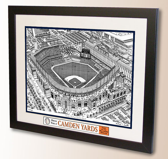 Baltimore Orioles wall art, Camden Yards art print