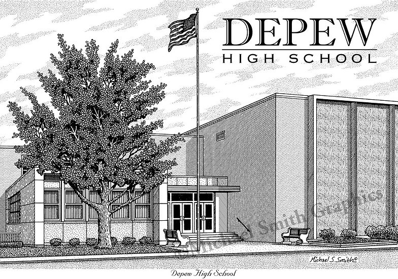 Depew High School art print by Michael Smith