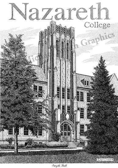 Nazareth College art print by Michael Smith