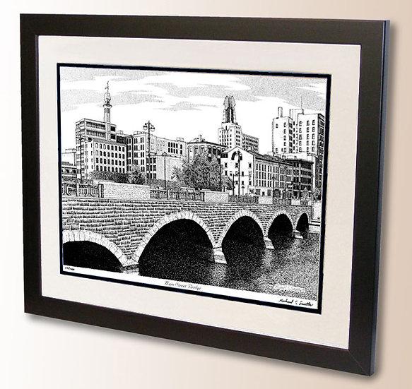 Main Street Bridge Rochester art print by Michael Smith