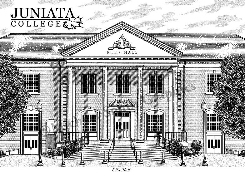 Juniata College art print by Michael Smith