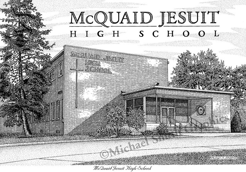 McQuaid Jesuit High School art print by Michael Smith