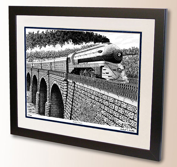Bullet Train Royal Blue of Baltimore and Ohio art print by Michael Smith
