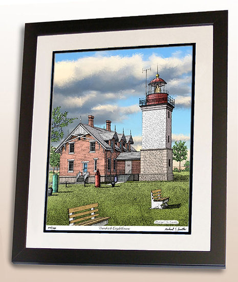 Dunkirk Lighthouse art print by Michael Smith