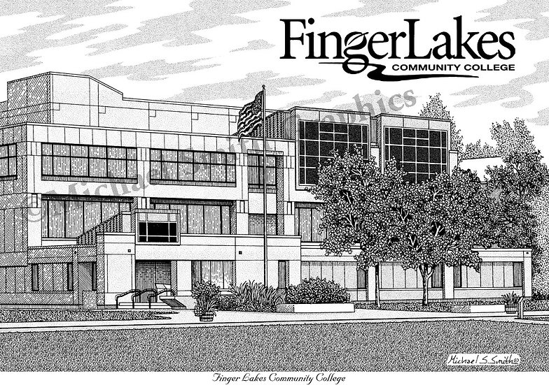 Finger Lakes Community College art print by Michael Smith