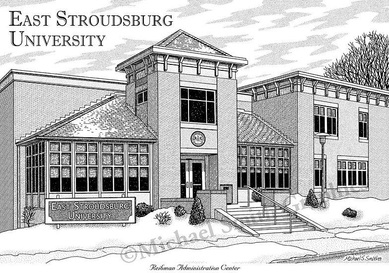 East Stroudsburg University art print by Michael Smith