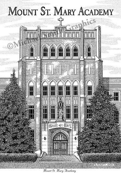 Mount Saint Mary Academy art print by Michael Smith