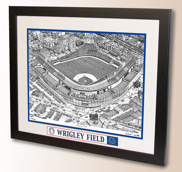 Wrigley Field wall art