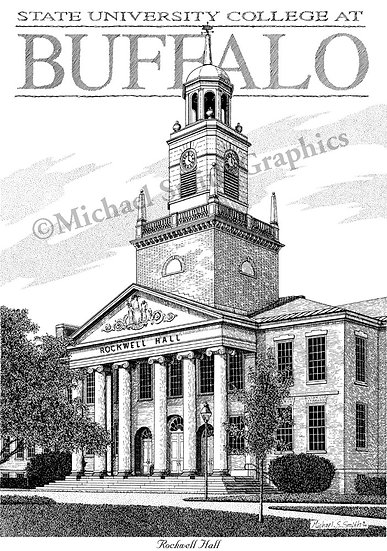 Buffalo State College art print by Michael Smith