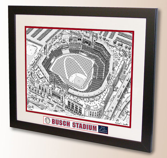 Busch Stadium wall art