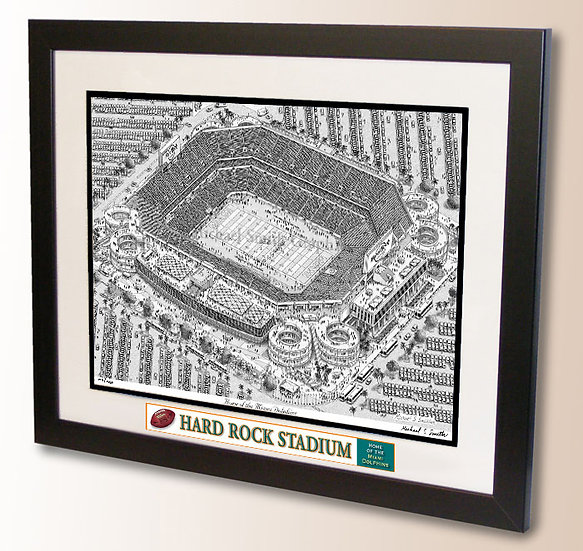 Hard Rock Stadium wall art