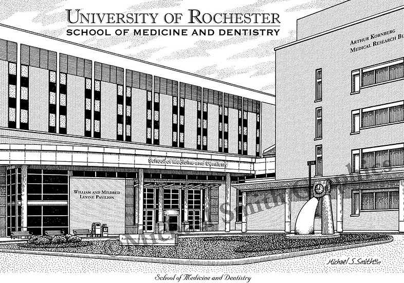 University of Rochester School of Medicine & Dentistry art print