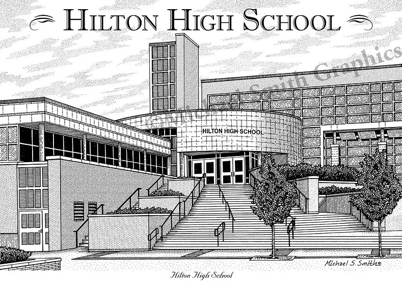 Hilton High School art print by Michael Smith