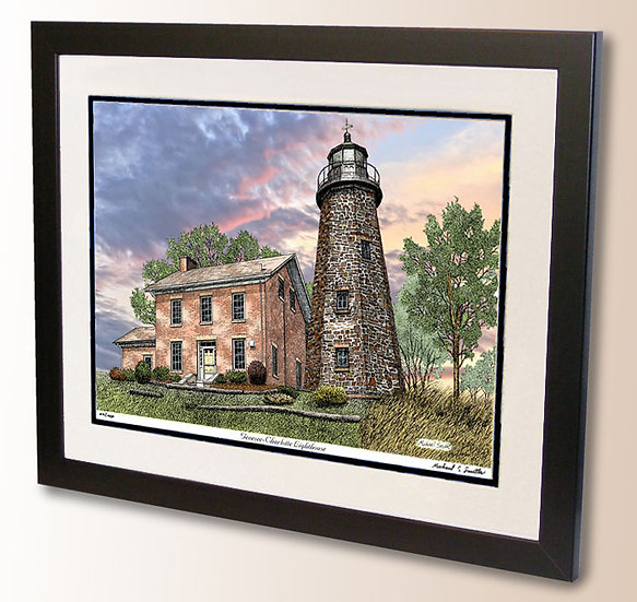 Charlotte Genesee Lighthouse art print by Michael Smith