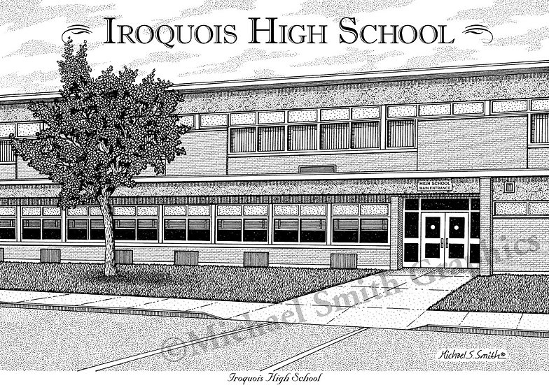 Iroquois High School art print by Michael Smith