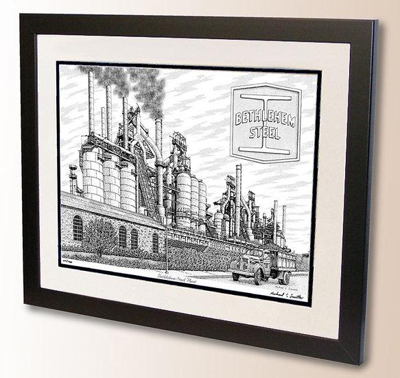 Bethlehem Steel art print by Michael Smith