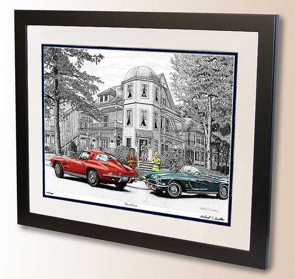 Classic Corvette art print by Michael Smith