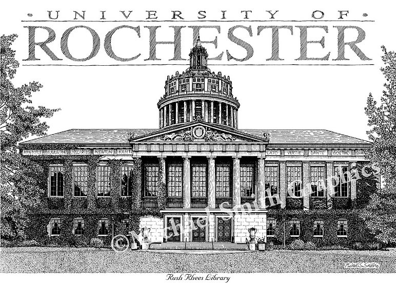 University of Rochester art print by Michael Smith