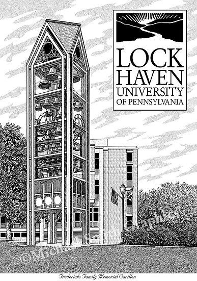 Lock Haven University art print by Michael Smith