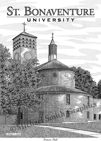 St. Bonaventure Francis Hall art print by Michael Smith