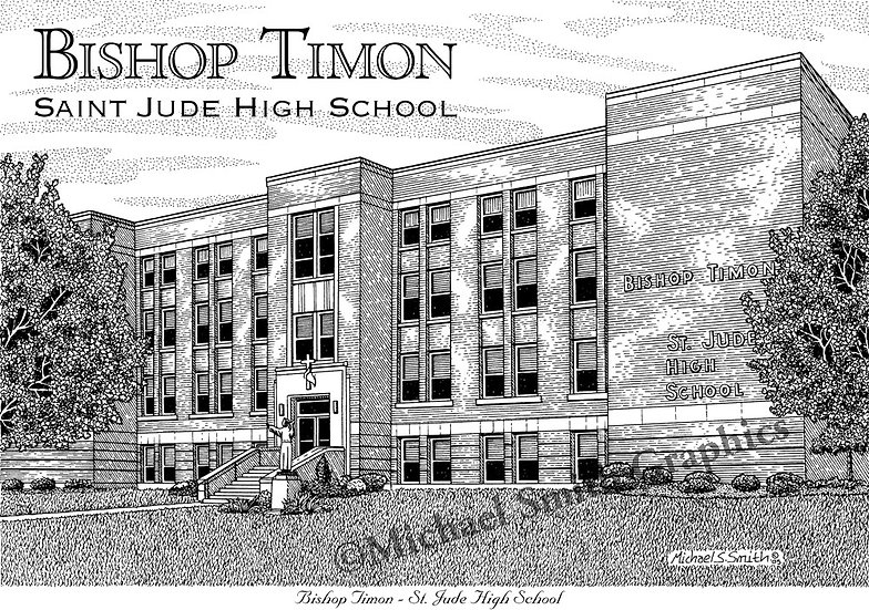 Bishop Timon St. Jude High School art print by Michael Smith