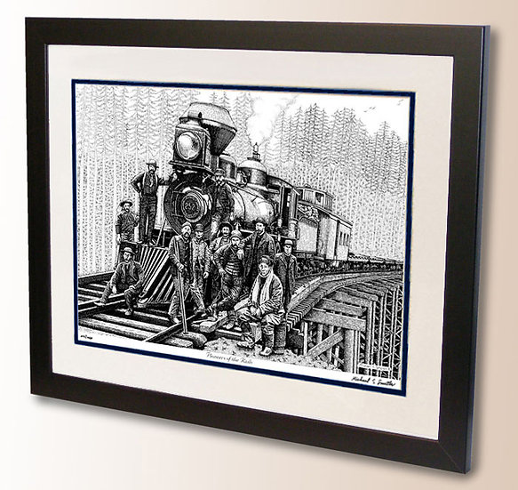 Steam train art print by Michael Smith