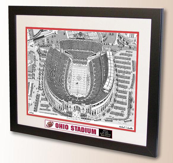 Ohio Stadium wall art